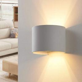 Weiße LED-Wandleuchte Zuzana, rund