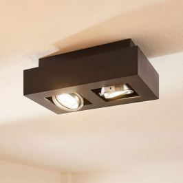 2-flammige LED-Deckenleuchte Vince in Schwarz