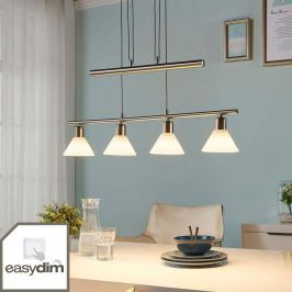 Nickelfarbene Easydim-LED-Pendellampe Eleasa
