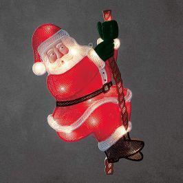 Kletternder Weihnachtsmann - LED-Fensterbild