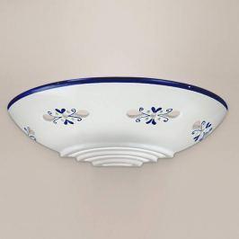 Bassano - hübsche Keramik-Wandleuchte, blau