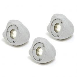 3er-Set LED-Spots Amalfi in Steinoptik