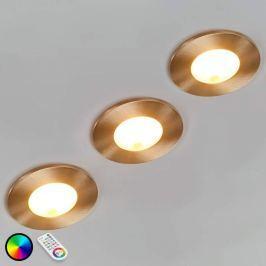 3er Set Performa LED-Einbauspots mit Fernbedienung