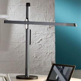 Saphirgraue LED-Schreibtischleuchte Tecton