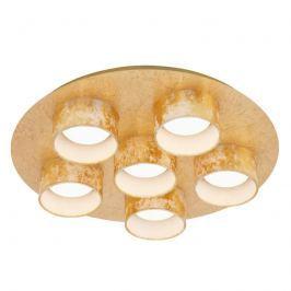 6-flg. LED-Deckenlampe Anna in edlem Golddesign