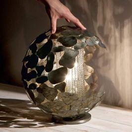 Twister - Designer-Tischleuchte in Silber