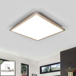 Nickelfarbenes LED-Panel Moira, easydim
