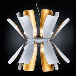 Designer-Hängeleuchte Tropic mit Blattgold