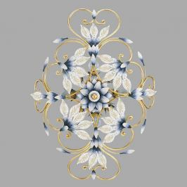 Luxuriöse Deckenleuchte Philippe mit Muranoglas