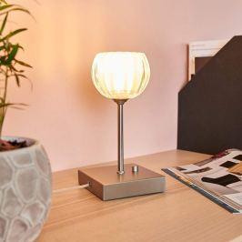 Dimmbare LED-Tischlampe Lexi m. Kristallglasschirm
