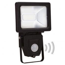 Schwarzer LED-Außenwandstrahler 401 m. Sensor 10 W