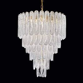 Imposanter Kronleuchter Pini aus Murano-Glas