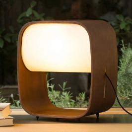 Hochwertige LED-Tischleuchte 1968 aus Holz