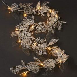 Blätter silberfarben - LED-Girlande