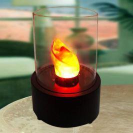 Runde LED-Dekorationsleuchte - Tischkamin Flame