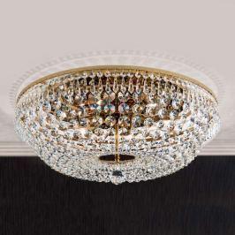 Runde Kristalldeckenleuchte SHERATA, gold 55 cm