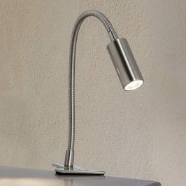LED-Tischleuchte m. Klemme Davina nickel-matt