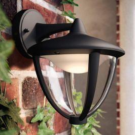 Philips Robin LED-Außenwandleuchte schwarz, unten