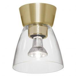 Bizzo Deckenlampe Baldachin messing Klarglas