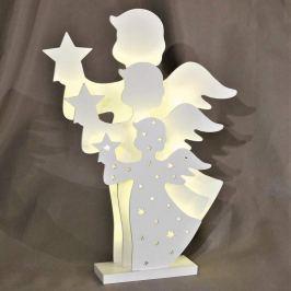 Zauberhaft schöne LED-Dekoleuchte 3D-Engel