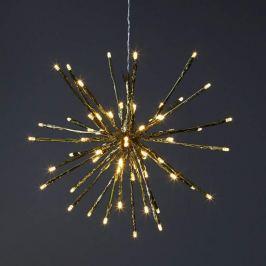 8 Lichtvarianten - LED-Dekoleuchte Firework, gold