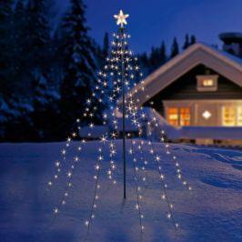 Mit leuchtendem Stern - LED-Tannenbaum-Simulation