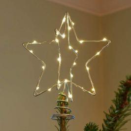 Faszinierende LED-Dekoleuchte Christmas Top silber