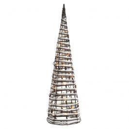 Moderne LED-Pyramide Aelis m. Korbgeflecht 60 cm