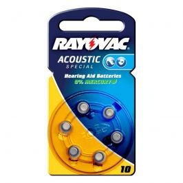 Rayovac 10 Acoustic 1,4V, 105m/Ah Knopfzelle