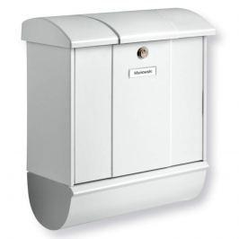 Formschöner Briefkasten OLYMP-SET, weiß