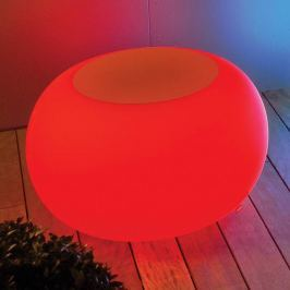 BUBBLE Outdoor LED Tisch LED RGB + Filz orange
