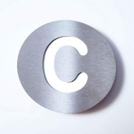 Edelstahl-Hausnummer Round - C