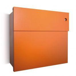 Oranger Briefkasten Letterman IV mit Klingel
