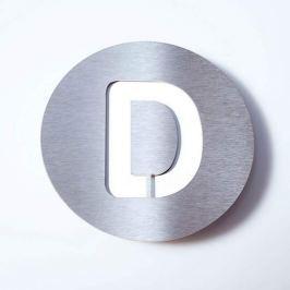 Edelstahl-Hausnummer Round - D