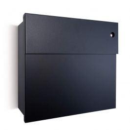Schwarzer Briefkasten Letterman IV mit Klingel