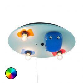 3-fl. Deckenleuchte Wal mit LED-Farbwechsler