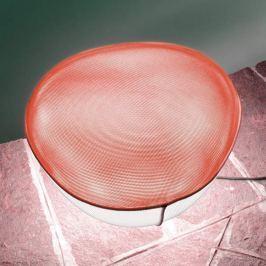 Oluce Pill-Low - Außen-Dekoleuchte, weiß-rot