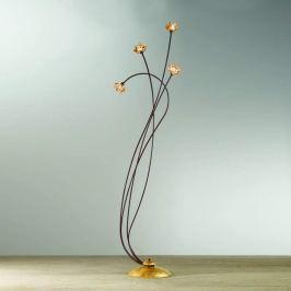Kristall-Stehleuchte Fiorella, amber