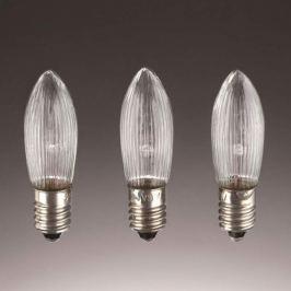 E10 3W 16V Ersatzlampen 3er Pack Kerzenform