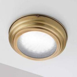 LED-Deckenleuchte Scirocco in satiniertem Messing