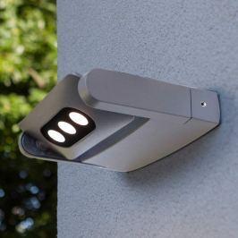 Außenwandstrahler Keiran mit 3 POWER-LEDs silber