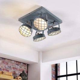 4-flammige LED-Deckenlampe Tamin, rauchgrau  G9