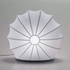 Axolight Muse - weiße Textiltischleuchte, 33 cm
