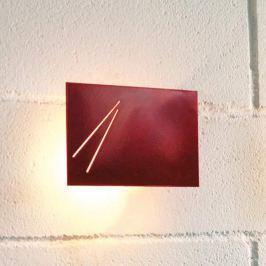 Knikerboker Des.agn - Designer-Wandlampe, rot