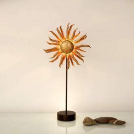Goldene LED-Tischleuchte Sonne