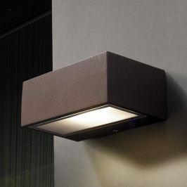 LED-Außenwandleuchte Nemesis, braun