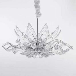 Kronleuchter Ninfea 125 cm, chrom transparent