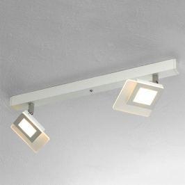Bopp Line - schöne LED-Deckenlampe in Weiß, 2-fl.