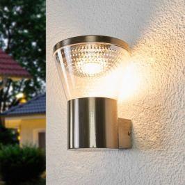 Moderne LED-Außenwandlampe Kiki aus Edelstahl