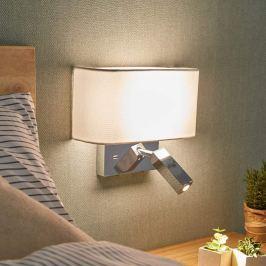 LED-Wandleuchte Virve mit Leselicht und USB-Port